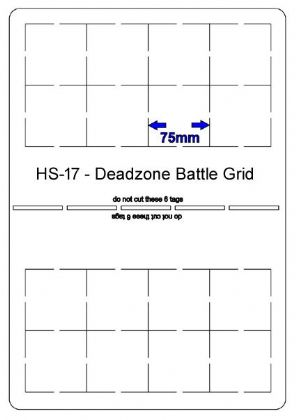 HS17 - Deadzone battle grid (75mm grid)